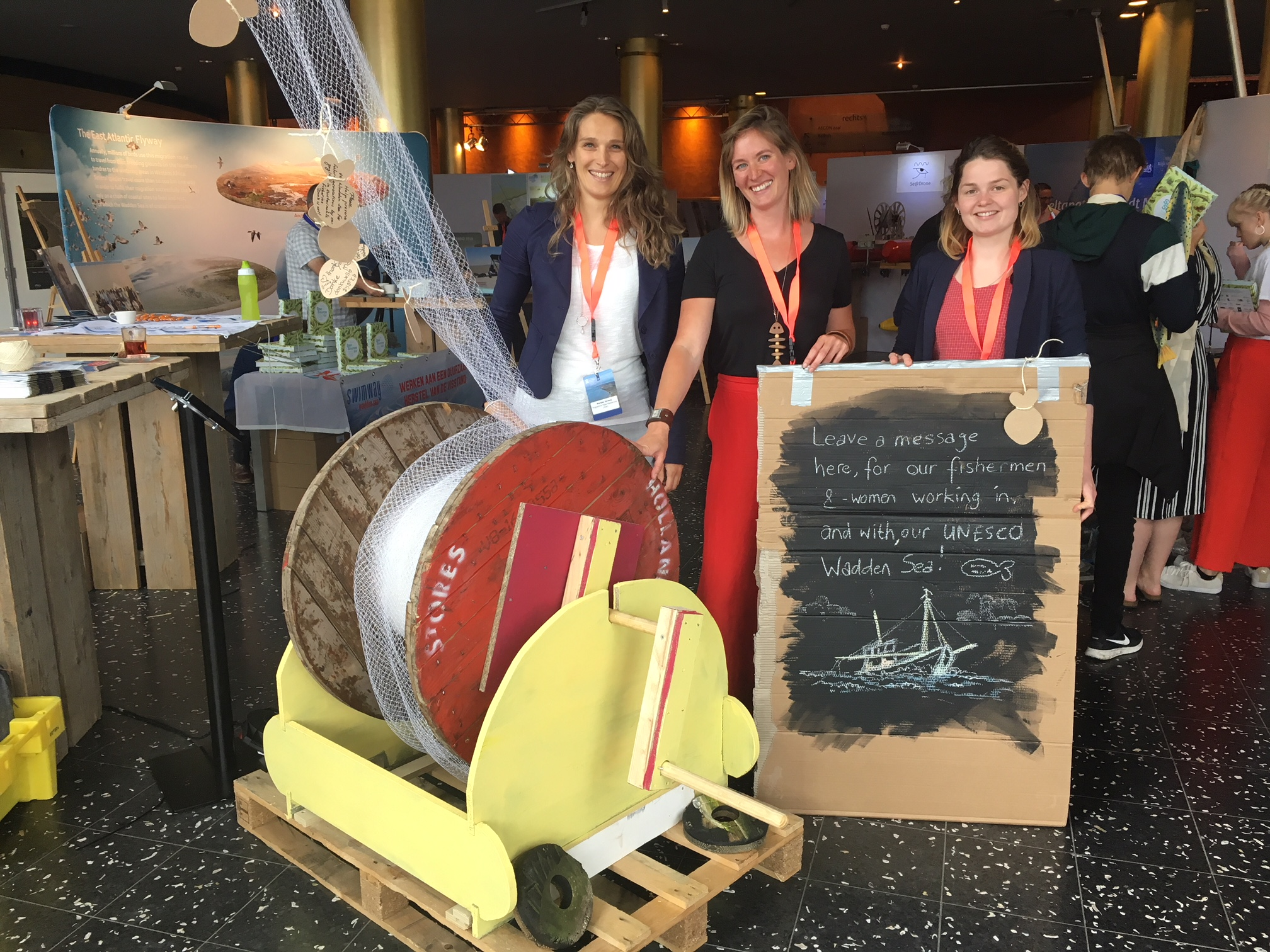 Top team met Marieke Verweij (Wing), Sarah Verroen (Fish & Farm) en Noor Visser (VisNed)